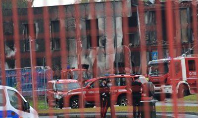 accidente avión en Milán