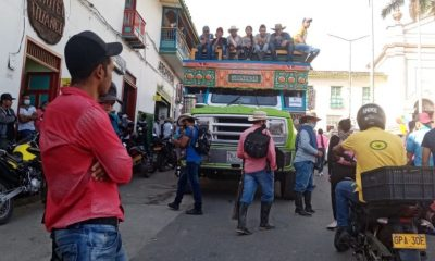 Campesinos desplazados Ituango