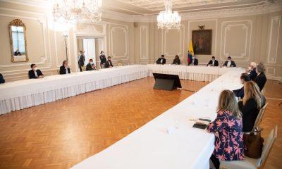 El presidente Iván Duque en reunión con la Coalición de la Esperanza. Foto: Presidencia
