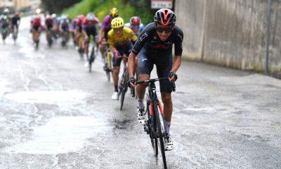 Egan Bernal en la quinta etapa de la Tirreno-Adriático