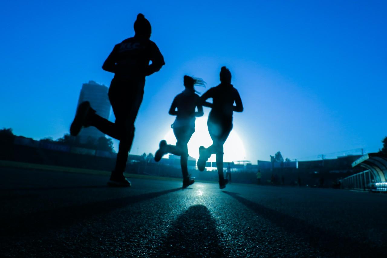 Trotar, hacer ejercicio