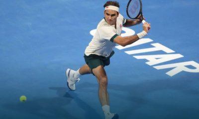 Roger Federer en el Abierto de Doha
