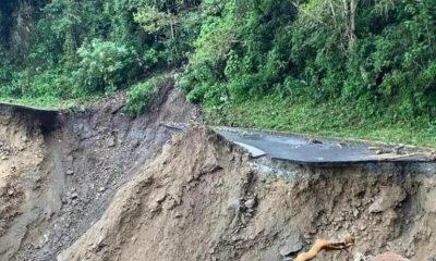 Derrumbe vías Ituango