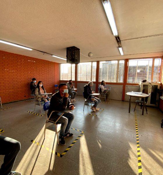 Salón de clases en pruebas Icfes 2021