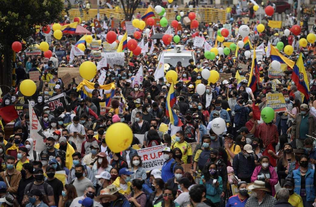 Manifestantes Bogotá Paro Nacional