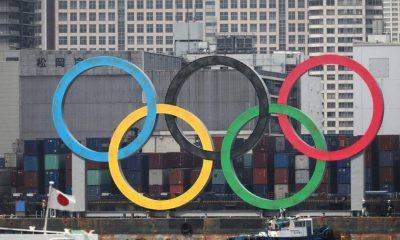 Símbolo de los Juegos Olímpicos instalado en Tokio